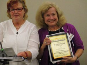 Sylvia Marotta-Walters receives Outstanding Service to Field Award
